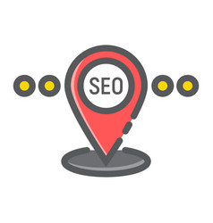 Local seo filled outline icon seo and development vector