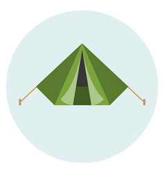military tent vector image