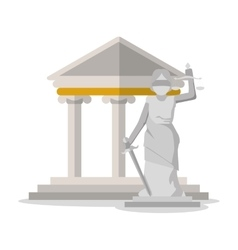 Monument building and law design vector