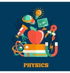 Physics science flat design vector
