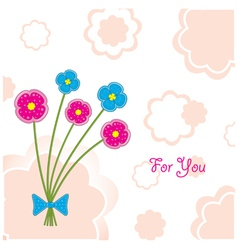 plasticine flowers vector image vector image