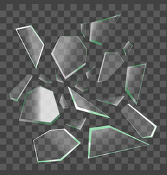 Realistic shards of broken glass vector