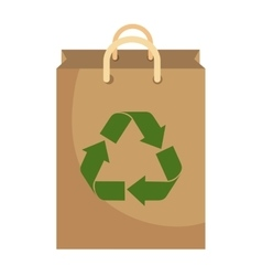 recycle shopping bag with arrows vector image