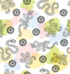 Seamless pattern with aboriginal design vector image