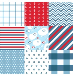 Seamless pattern with nautical elements vector image