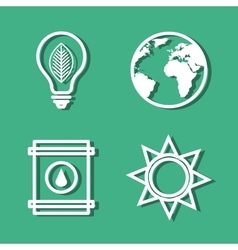 set eco friendly icons vector image vector image
