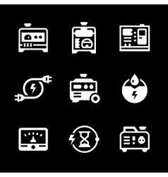 Set icons of electrical generator vector image vector image