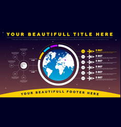 Space infographics vector