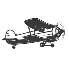 vintage airplane vector image