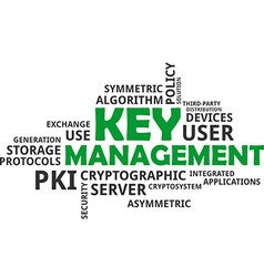 Word cloud key management vector