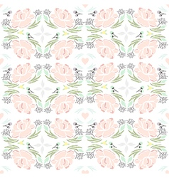 Cute seamless floral pattern vector
