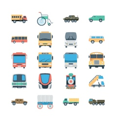Transports colored icons 4 vector