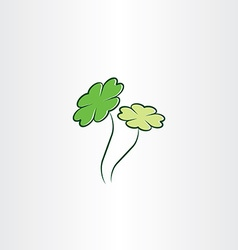 Clover plant luck vector