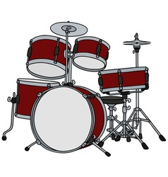 Classic red percussion vector