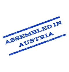 Assembled in austria watermark stamp vector