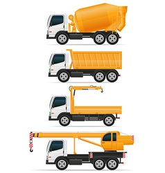 Trucks designed for construction vector