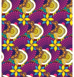 Floral bright seamless pattern vector