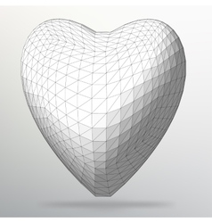 Creative concept background of the heart abstract vector