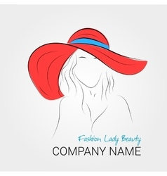 Modern woman in summer hat vector image