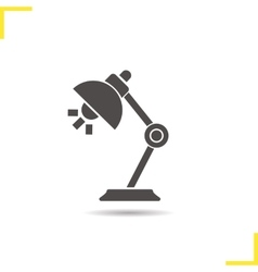 Desk lamp icon vector