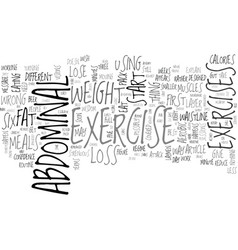 Abdominal exercise and weight loss text word vector