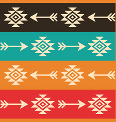 aztec seamless pattern with arrows retro vector image vector image
