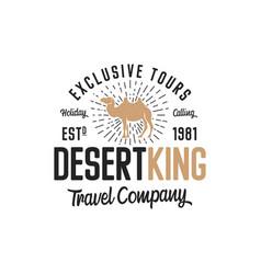 Camel logo template concept travel company vector