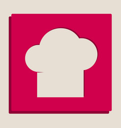 Chef cap sign grayscale version of popart vector