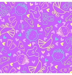 Childrens background vector