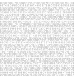 Code Screen Gray Numbers Background vector image vector image