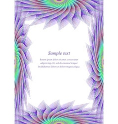 Colored page border design template vector