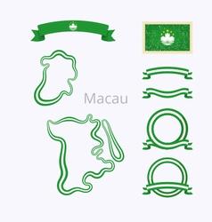 Colors of Macau vector image vector image