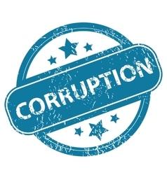 Corruption round stamp vector