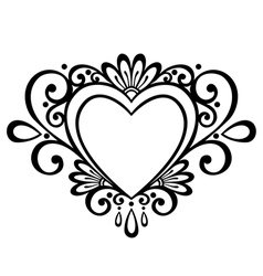 Deco floral heart vector