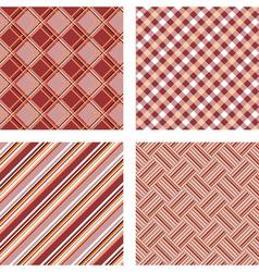Design seamless colorful kitchen patterns set vector