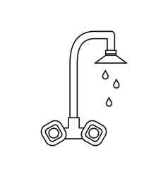 Dripping tap icon outline style vector image