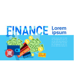 Finance money savings business banking banner vector