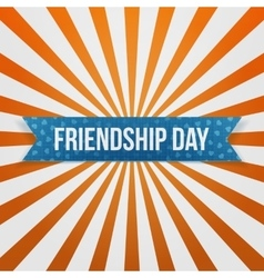 Friendship day greeting blue paper banner vector