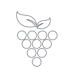 Grape fruit food symbol outline vector