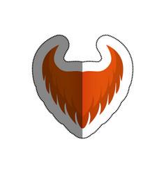 irish beard elf icon vector image