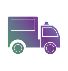 line trunk vehicle transportation to delivery vector image