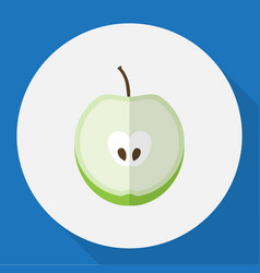 Of dessert symbol on apple vector