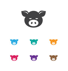 of zoo symbol on pork icon vector image