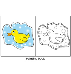 Painting book vector