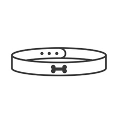Pet collar isolated icon vector
