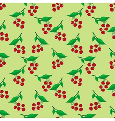 Seamless pattern with ripe berries vector image vector image