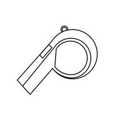 sport whistle referee vector image