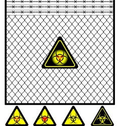 third mesh fence vector image