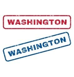 Washington rubber stamps vector