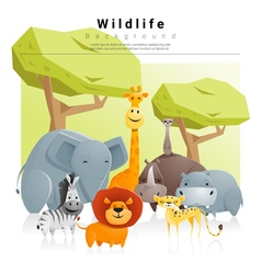 Wild animal background 2 vector